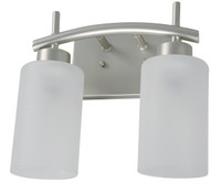 Active Home Centre 2 Light Vanity Light in Matt Nickel