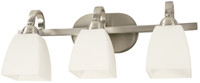 Active Home Centre 3 Light Vanity Light in Satin Nickel