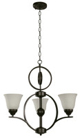 Active Home Centre 3-Light Chandelier in Dark Brown