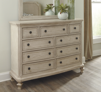Ashley Demarlos Dresser in Parchment White (Mirror Not Included)