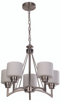Active Home Centre Chandelier 5 Light in Satin Nickel