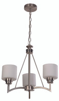 Active Home Centre Chandelier 3 Light in Satin Nickel