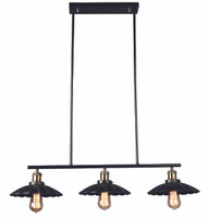 Active Home Centre 3 Light Pendant in Matt Black