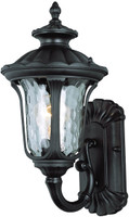 Active Home Centre Small Outdoor 1-Light Wall Sconce in Black
