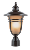 Active Home Centre Outdoor 1 Light Post Mount in Black