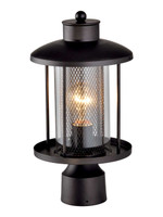 Active Home Centre Outdoor 1 Light Post Mount in Sand Black