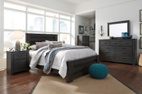 Ashley Brinxton Queen Poster Bedframe in Black