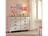 Ashley Willowton 6-Drawer Dresser in Whitewash