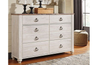 Ashley Willowton 6-Drawer Dresser in Two-Tone