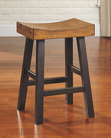 Ashley Glosco Bar Stool in Distressed Finish