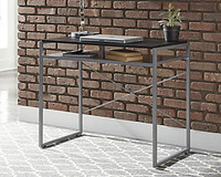 "Ashley Bertmond 35"" Home Office Desk in Black & Silver"