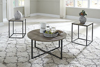 Ashley Wadeworth Table Set (Set of 3) in Two Tone