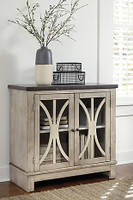 Ashley Vennilux Accent Cabinet in Bisque