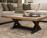 Ashley Wesling Rectangular Coffee Table in Light Brown