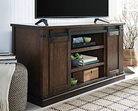 "Ashley Budmore 60"" TV Stand in Rustic Brown"