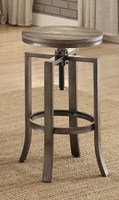 Coaster Industrial Wire Brushed Adjustable Bar Stool in Nutmeg