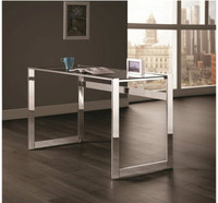 Coaster Contemporary Desk in Chrome