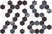 "Active Home Centre Mosaico Nero Hexagonal 13""x 19"" Ceramic Wall Tile"