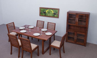 Active Home Centre Dili Dining Table Set in Brown