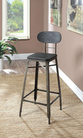 "Furniture of America Odalys 29"" Bar Chair in Black"