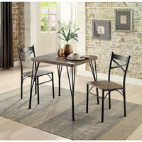 Furniture of America Slingsbury 3 Piece Dining Table Set