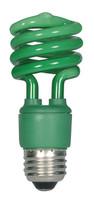Satco 13W Mini Spiral Green Fluorescent E26 Bulb