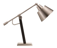 Active Home Centre Table Lamp in Brushed Nickel (27TG-RTL9015)