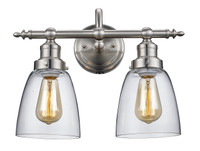Active Home Centre 2 Light Wall Sconce in Brushed Nickel