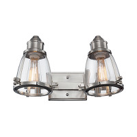 Active Home Centre 2-Light Wall Sconce in Brushed Nickel
