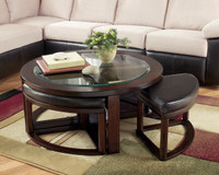 Ashley Marion Coffee Cocktail Occasional Table with 4 Stools