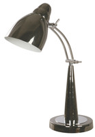 Active Home Centre 1 Light Desk Lamp in Black and Chrome