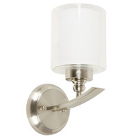 Active Home Centre Wall Sconce in Satin Nickel