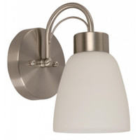 Active Home Centre 1-Light Wall Sconce in Satin Nickel (30LU-21991-4)