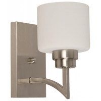 Active Home Centre 1-Light Wall Sconce in Satin Nickel (30LU-21994-4)