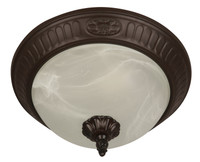 Active Home Centre 2 Light Flush Mount in Oiled Bronze