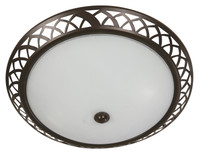 Active Home Centre 2 Light Flush Mount in Brown