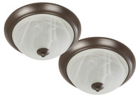 Active Home Centre Flush Mount Twin Pack in Brown