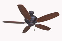 "Bali Blue Mountain 52"" Indoor Ceiling Fan in Brushed Nickel"