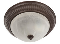 Active Home Centre Flush Mount Twin Pack in Dark Brown