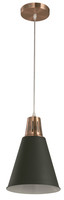 Active Home Centre 1 Light Pendant in Black and Copper