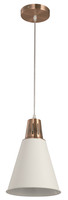 Active Home Centre 1-Light Pendant in White and Copper