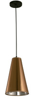 Active Home Centre 1-Light Pendant in Black and Copper