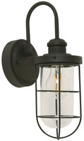 Active Home Centre 1 Light Outdoor Wall Sconce in Sand Black