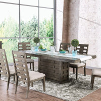 Furniture of America Jayden Dining Table in Gray