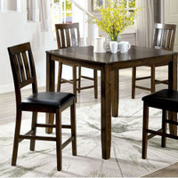 Furniture of America Chandler Dining Table Set in Dark Oak
