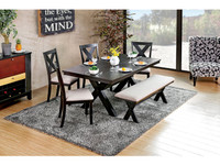 Furniture of America Xanthe Dining Table in Black