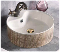 Active Home Centre Countertop Art Basin in Cream