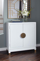 Ashley Walentin Accent Cabinet in White