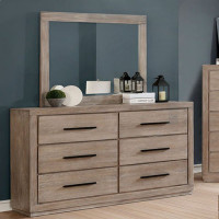 Furniture of America Oakburn Dresser in Weathered Natural