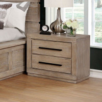 New Arrival - Furniture of America Oakburn Nightstand in Weathered Natural